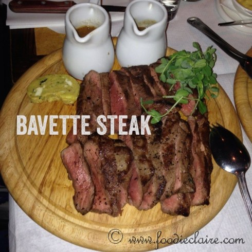 bavette steak at bedford and strand