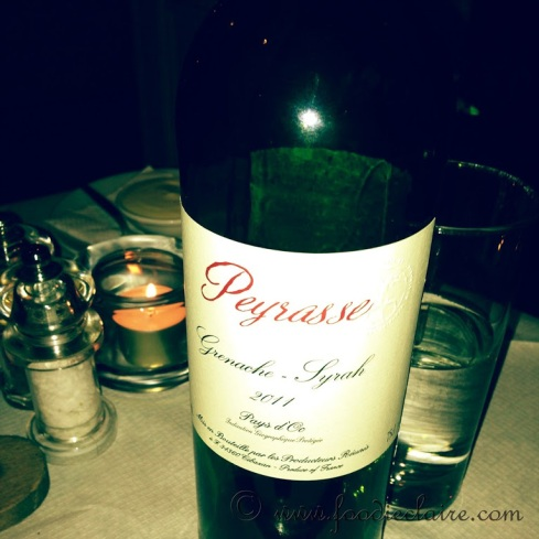 PEYRASSE – GRENACHE/SYRAH, FRANCE - a very respectable £18 per bottle