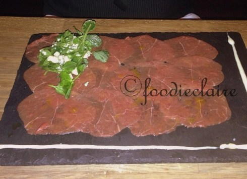 carpaccio at blackhouse restaurant