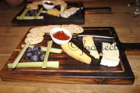 cheese and fruit board at blackhouse restaurant london