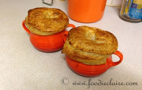 Nigella Lawson Chicken and Mushroom Pastry Pot Pie