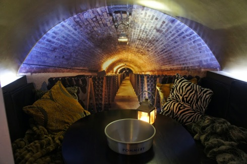 the vaults at voltaire champagne bar and cigar terrace
