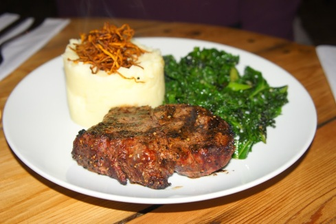 Fillet Steak served with Creamy Mash Potato and sautéed kale
