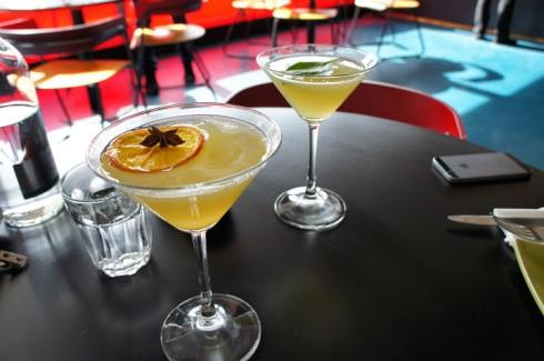 Marmalade Martini and Basil Martini