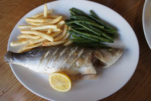 Sea Bass and Frites